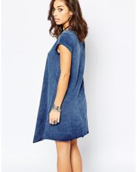 Noisy May Petite - Blue Short Sleeve Dress - Lyst