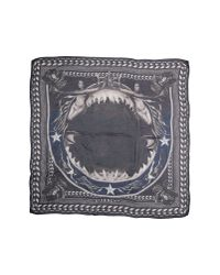 Givenchy - Gray Square Scarf - Lyst
