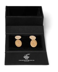 Kingsman - Metallic Deakin & Francis Rose Gold-Plated Crest Cufflinks for Men - Lyst