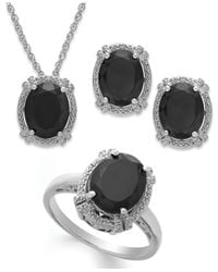 Macy's | Black Onyx (8-3/4 Ct. T.w.) And Diamond Accent Jewelry Set In Sterling Silver | Lyst