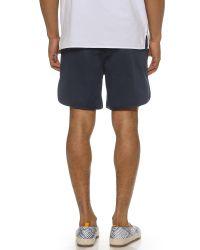 Maison Kitsuné - Blue Boba Shorts for Men - Lyst