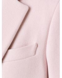 MSGM - Pink Classic Single Breasted Coat - Lyst