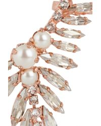 Ryan Storer - Pink Rose Goldplated Swarovski Crystal and Pearl Ear Cuff - Lyst