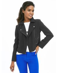 Banana Republic | Black Multi-zip Moto Jacket | Lyst