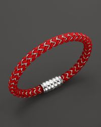 John Hardy - Mens Bedeg Silver Bracelet On Red Nylon Cord for Men - Lyst