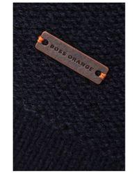 BOSS Orange - Blue 'amaren' | Virgin Wool Cotton Troyer Sweater for Men - Lyst