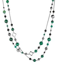 David Yurman - Green Bead Necklace With Black Onyx & Hematine - Lyst