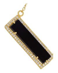 Kevia - Black Gold-plated Onyx And Crystal Necklace - Lyst