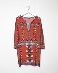 Lyst Isabel Marant Sandrine Printed Dress In Red