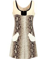 Carven | Natural Snake-print Crepe Mini Dress | Lyst