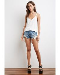 Forever 21 - Natural Longline Vented Cami - Lyst
