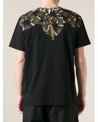 Marcelo Burlon - Black Snake Print Tshirt for Men - Lyst