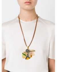 Marni | Yellow Floral Pendant Necklace | Lyst