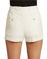 Free People | White Eyelet Textured Boxer Shorts | Lyst