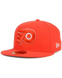KTZ | Orange Philadelphia Flyers C-dub 59fifty Cap for Men | Lyst