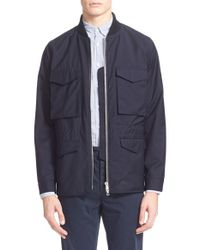 Officine Generale | Blue 'aiden' Water Repellent Field Jacket for Men | Lyst