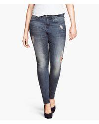 H&M | Blue + Skinny Jeans | Lyst