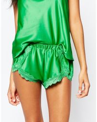 Wolf & Whistle - Green Emerald Shorts - Lyst