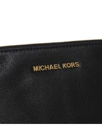 MICHAEL Michael Kors - Black Rhea Large Pouch Clutch Bag - Lyst