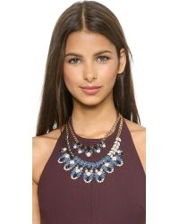 kate spade new york - Blue Beach Gem Statement Necklace - Aqua Multi - Lyst