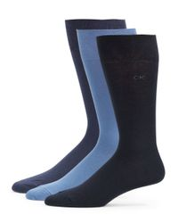 Calvin Klein | Black 3-pack Knit Socks for Men | Lyst