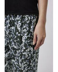 TOPSHOP - Black Blur Poppy Pyjama Trousers - Lyst