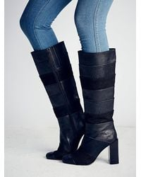 Free People - Black Jeffrey Campbell + Womens Mariana Knee Boot - Lyst
