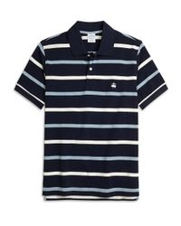 Brooks Brothers | Blue Slim Fit Multistripe Polo Shirt for Men | Lyst
