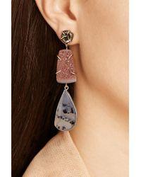 Melissa Joy Manning | Red 14karat Gold Pearl Druzy and Agate Drop Earrings | Lyst