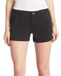 William Rast | Black Solid Shorts | Lyst