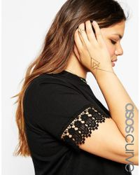 Asos Curve | Metallic Open Triangle Hand Harness | Lyst