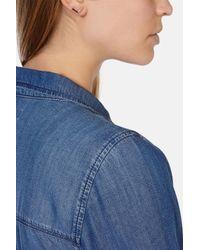 Karen Millen | Metallic Angle Crystal Stud Earrings | Lyst