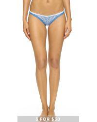 Calvin Klein - Blue Bottoms Up Thong - Steel Grey - Lyst