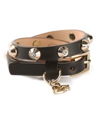 DSquared² - Black Studded Bracelet - Lyst
