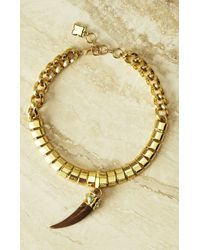 BCBGMAXAZRIA | Metallic Faux-horn Chain Necklace | Lyst