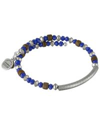 ALEX AND ANI | Blue Uncharted Voyage Beaded Wrap Bangle | Lyst