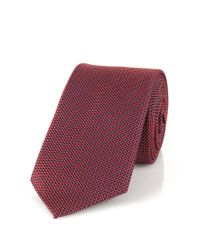 HUGO | Red Silk Tie: 'tie 6 cm' for Men | Lyst