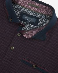 Ted Baker | Purple Jacquard Polo Shirt for Men | Lyst