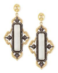 Armenta - Metallic Old World Midnight & Gold Moonstone Earrings - Lyst