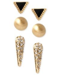 Kenneth Cole | Metallic Triangle And Spike Stud Earring Set | Lyst