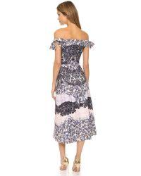 Saloni - Gray Ruth Dress - Fauna Placement - Lyst