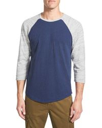 Lucky Brand | Gray Baseball T-shirt for Men | Lyst