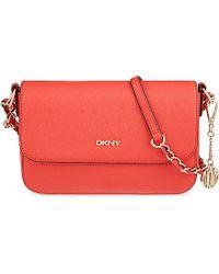 9c449c7d45 DKNY Bryant Park Saffiano Small Cross-Body Bag - For Women in Orange ...