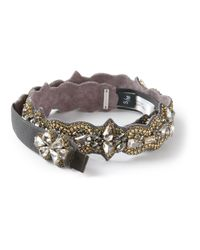 Deepa Gurnani - Gray Embellished Bracelet - Lyst