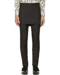 Givenchy - Black Rubber Band Skirt for Men - Lyst