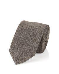 BOSS - Gray Silk Tie: 't-tie 6 Cm' for Men - Lyst