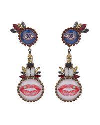Erickson Beamon - Multicolor Say Cheese Earrings - Lyst
