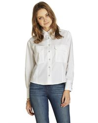 BCBGeneration - White Boxy Button-Up Top - Lyst