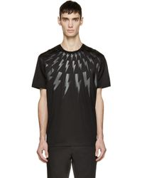 Neil Barrett - Black Thunderbolt T-shirt for Men - Lyst