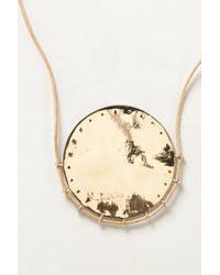 Winifred Grace - Metallic Oak Moon Necklace - Lyst